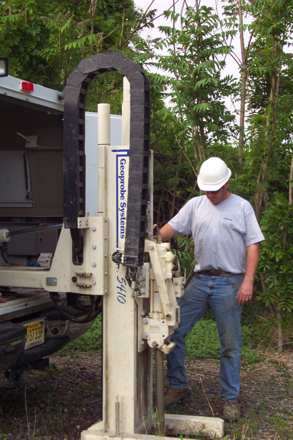 soil and water sampling with a geoprobe