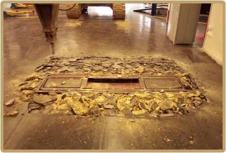underground lift removal