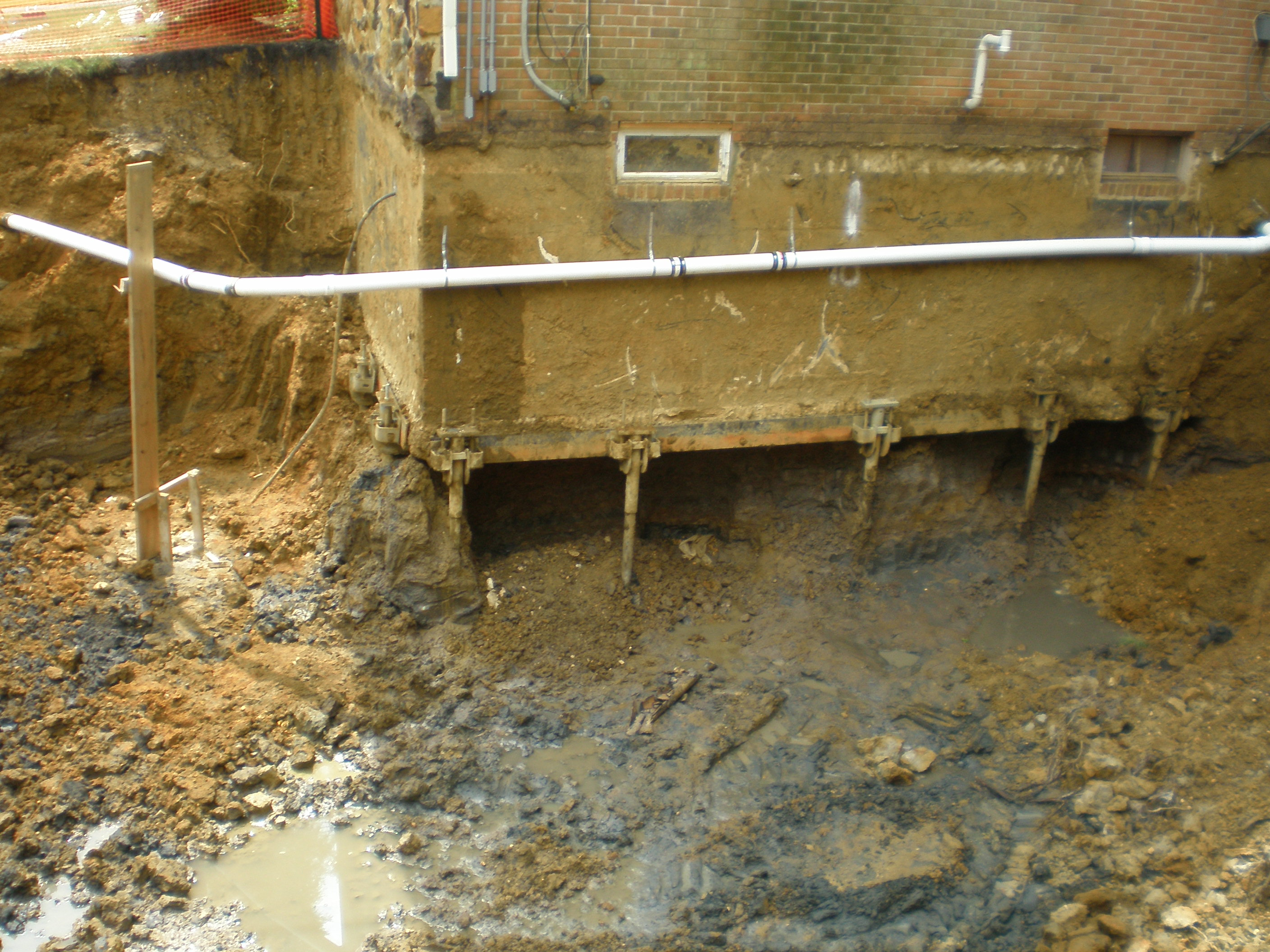 helical pier foundation support
