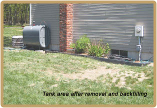 tank removal from home