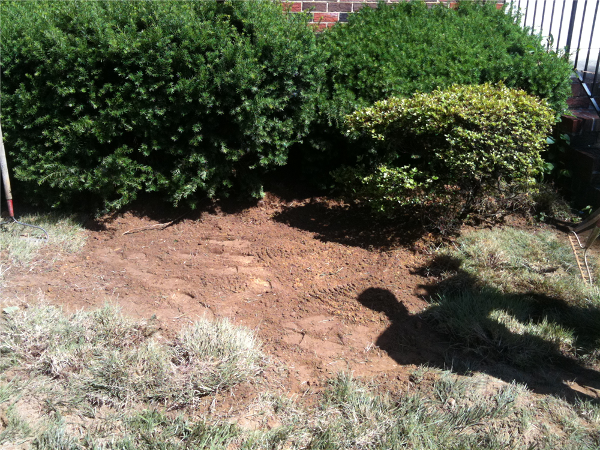 Tank location after backfill. Property owner only needs to add grass seed and water.