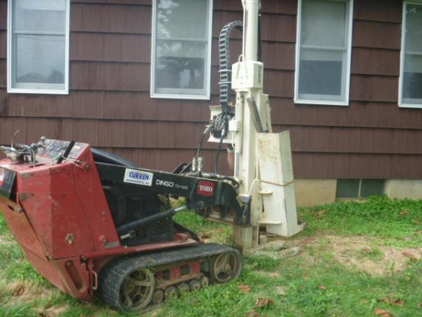Soil borings with geoprobe ATV