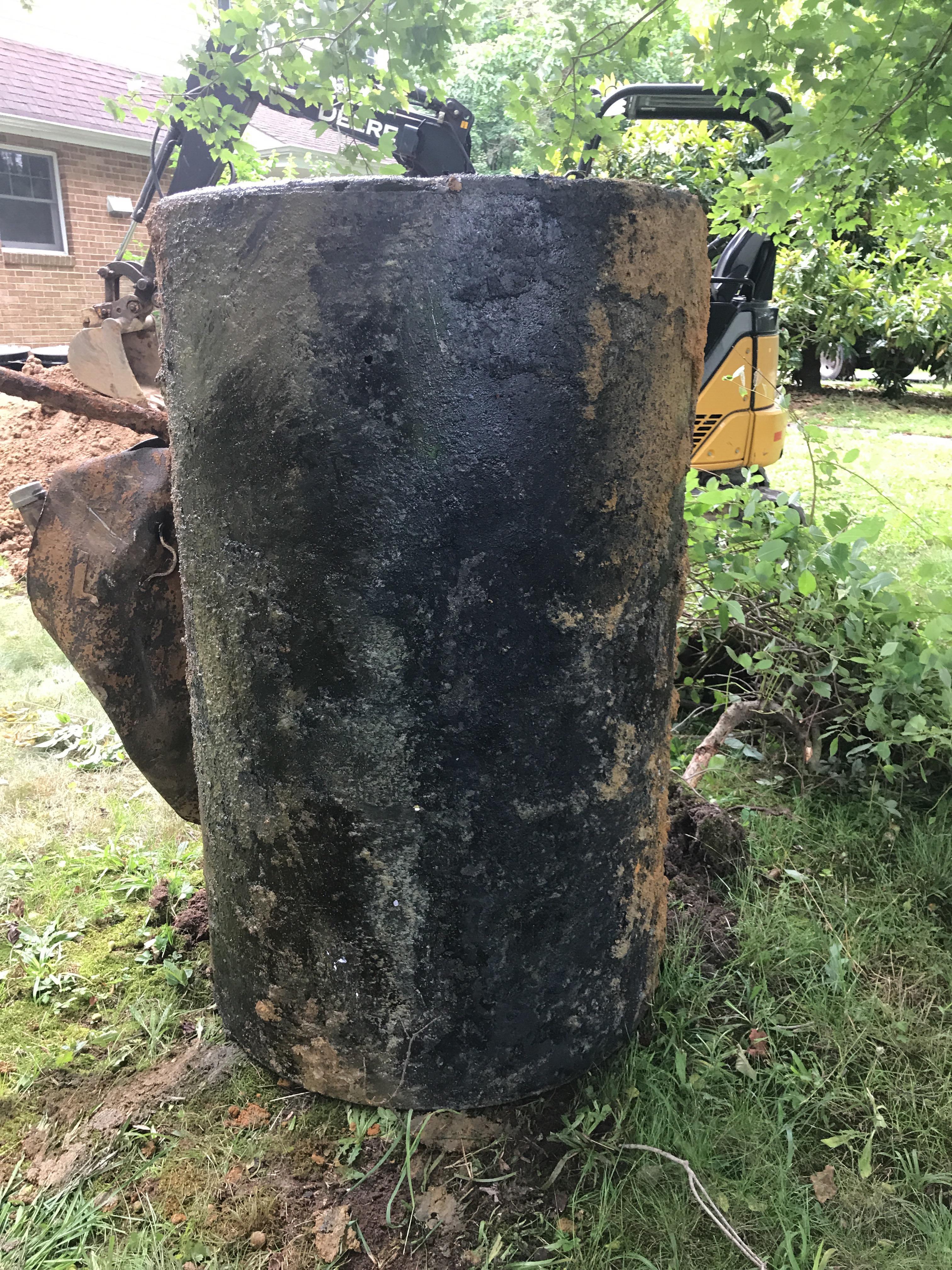 residential oil tank leak