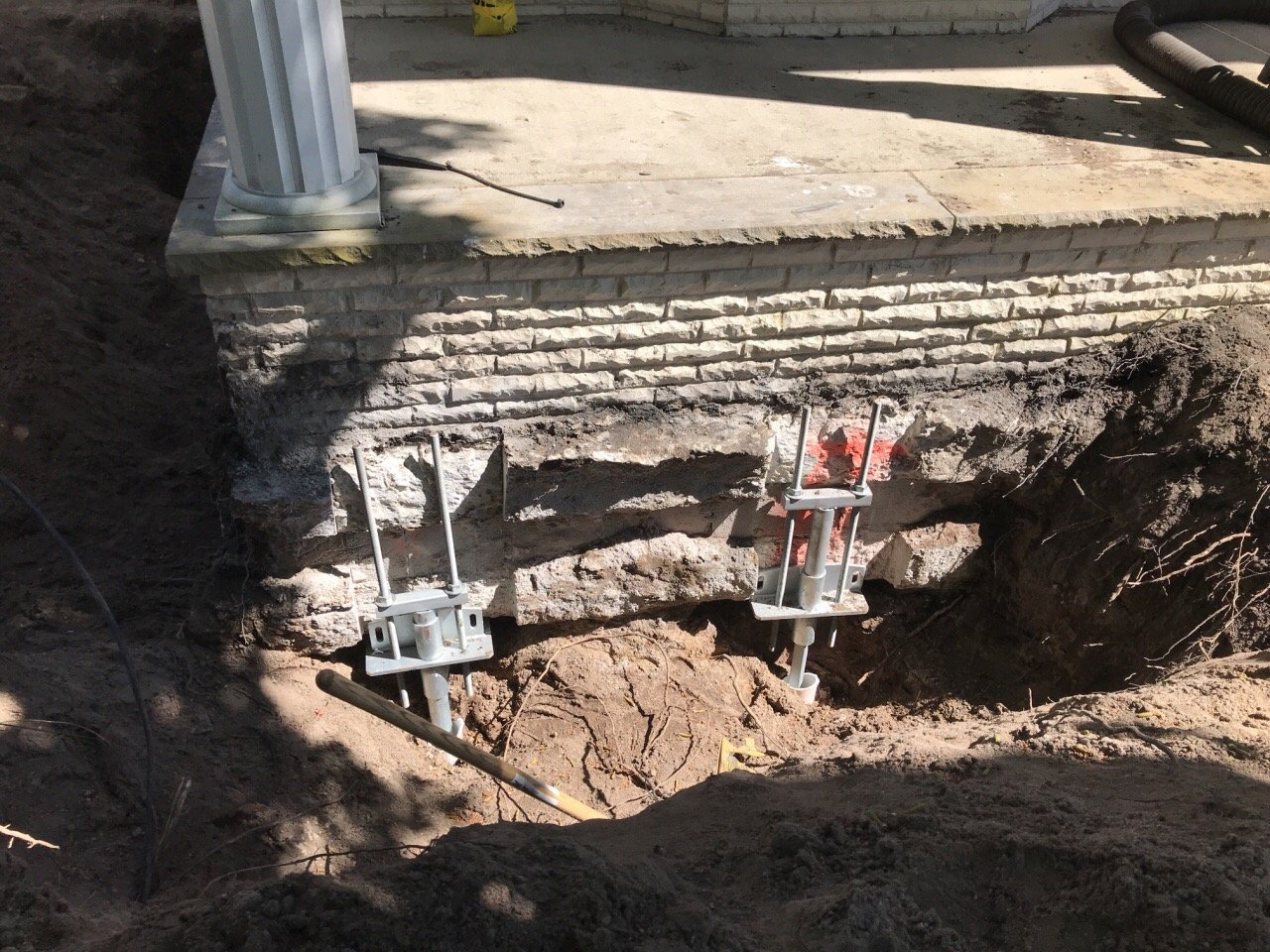foundation support and repair with helical piles