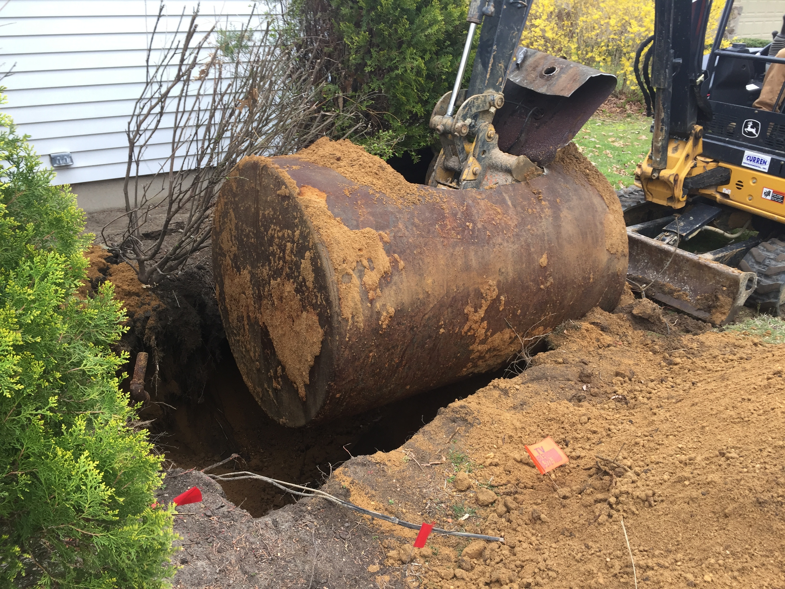 how long does it take to remove an oil tank?