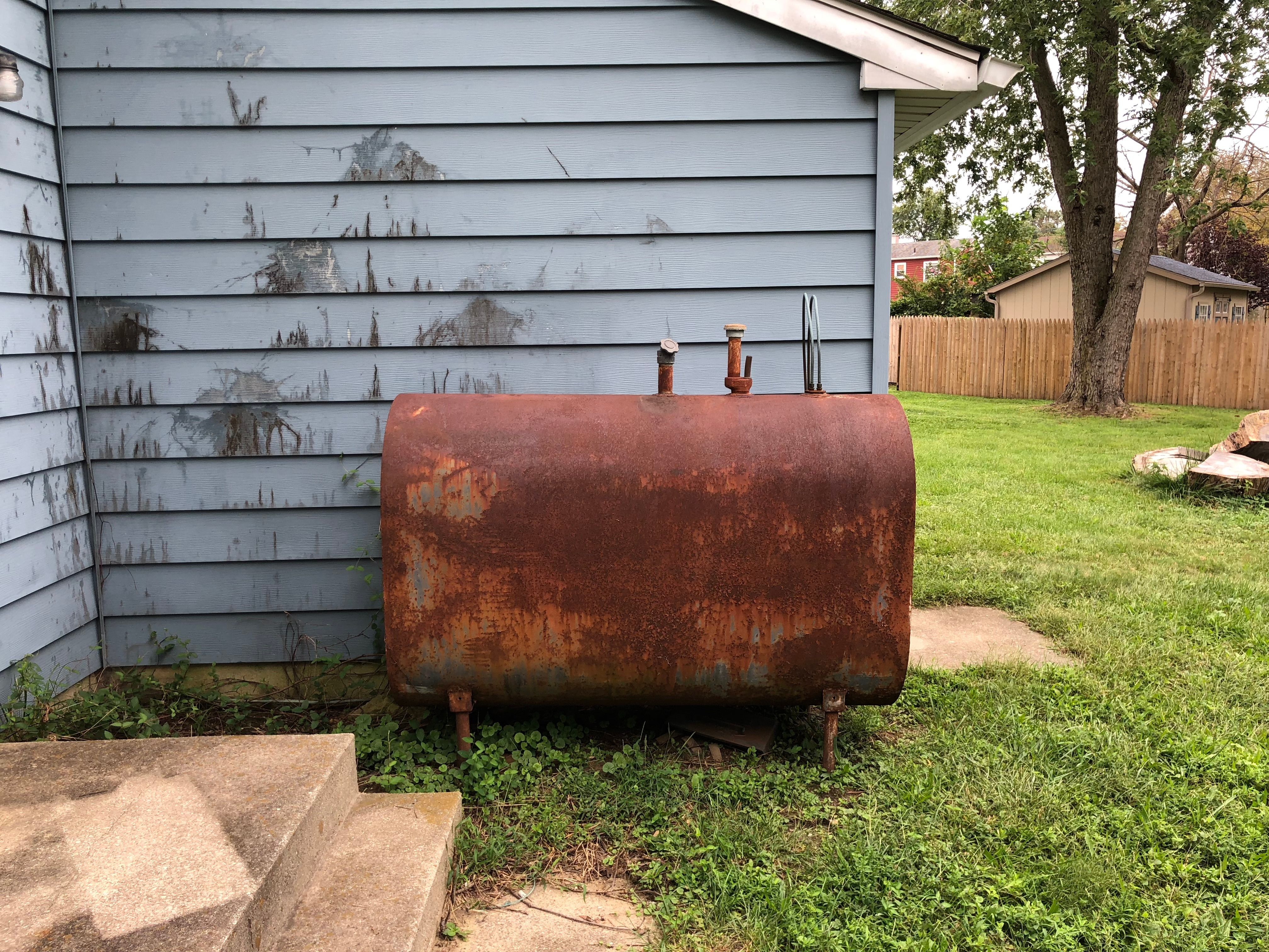 Above ground oil tank removal