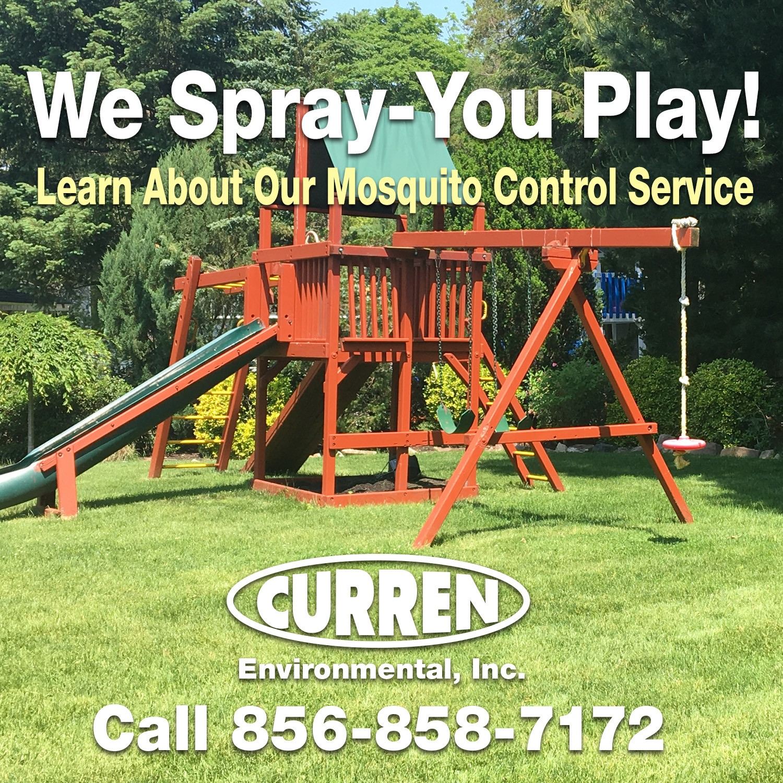 Mosquito spray so you play