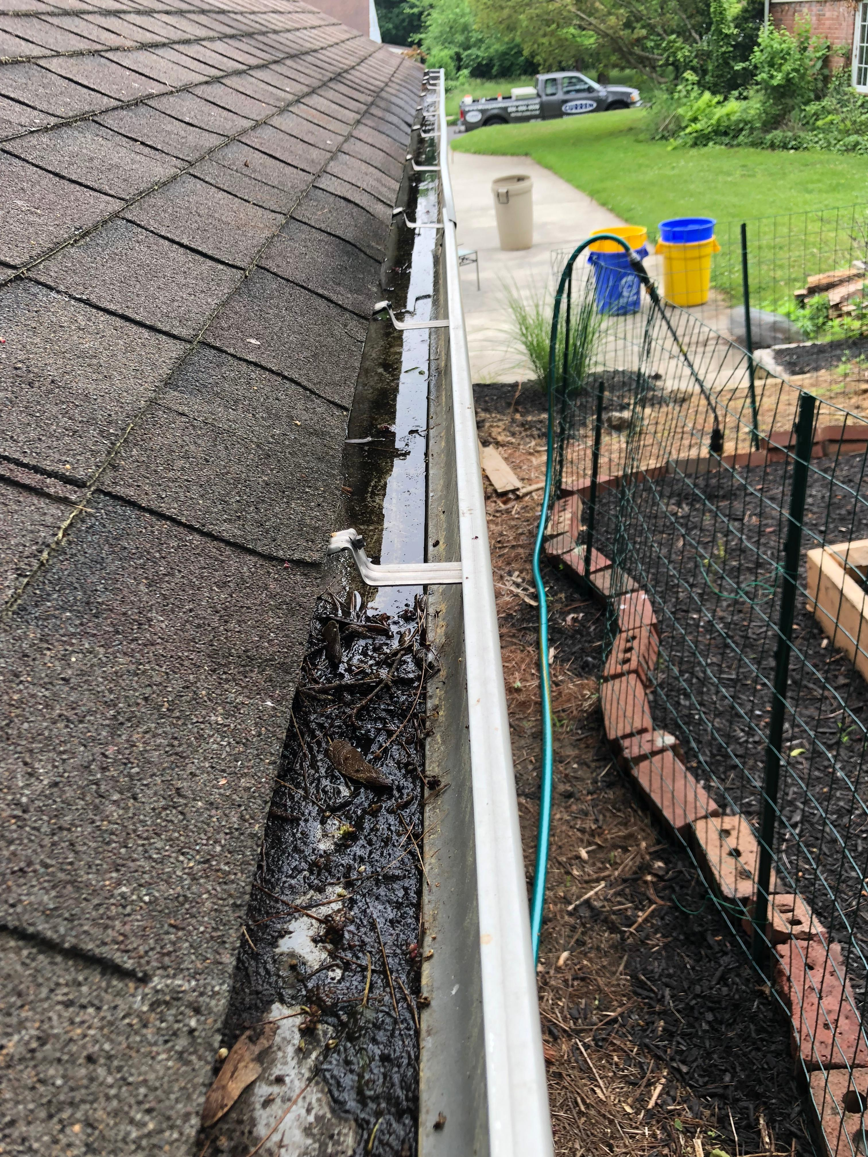 Gutters are popular breeding areas for mosquitoes