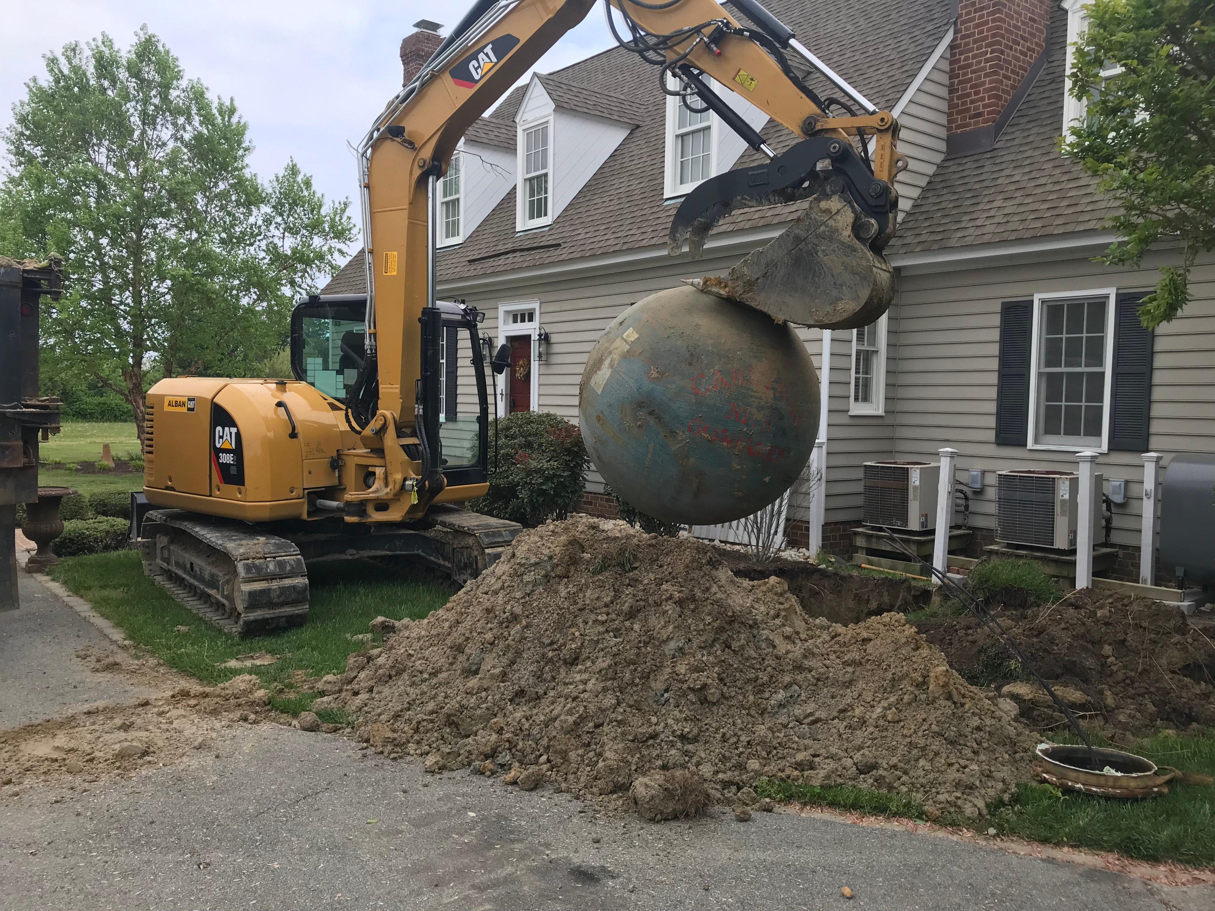 fiberglass tank removal