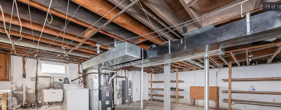 mold on basement ceiling