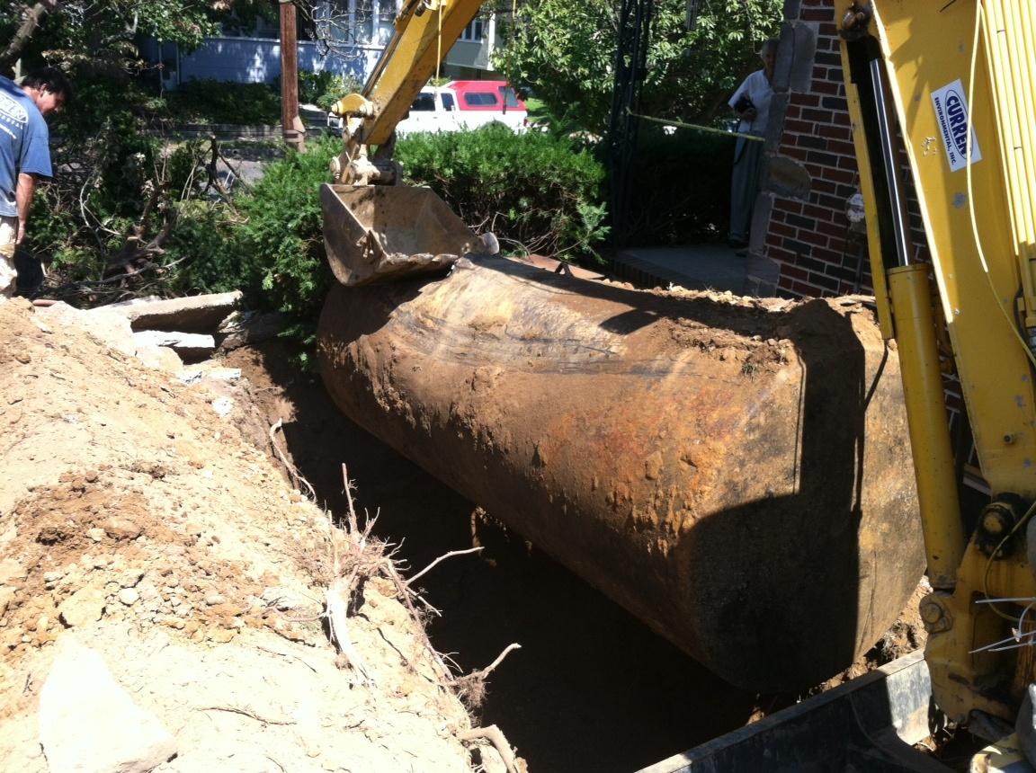 Oil Tank Demolition : Oil tank sweeps scanning for buried tanks