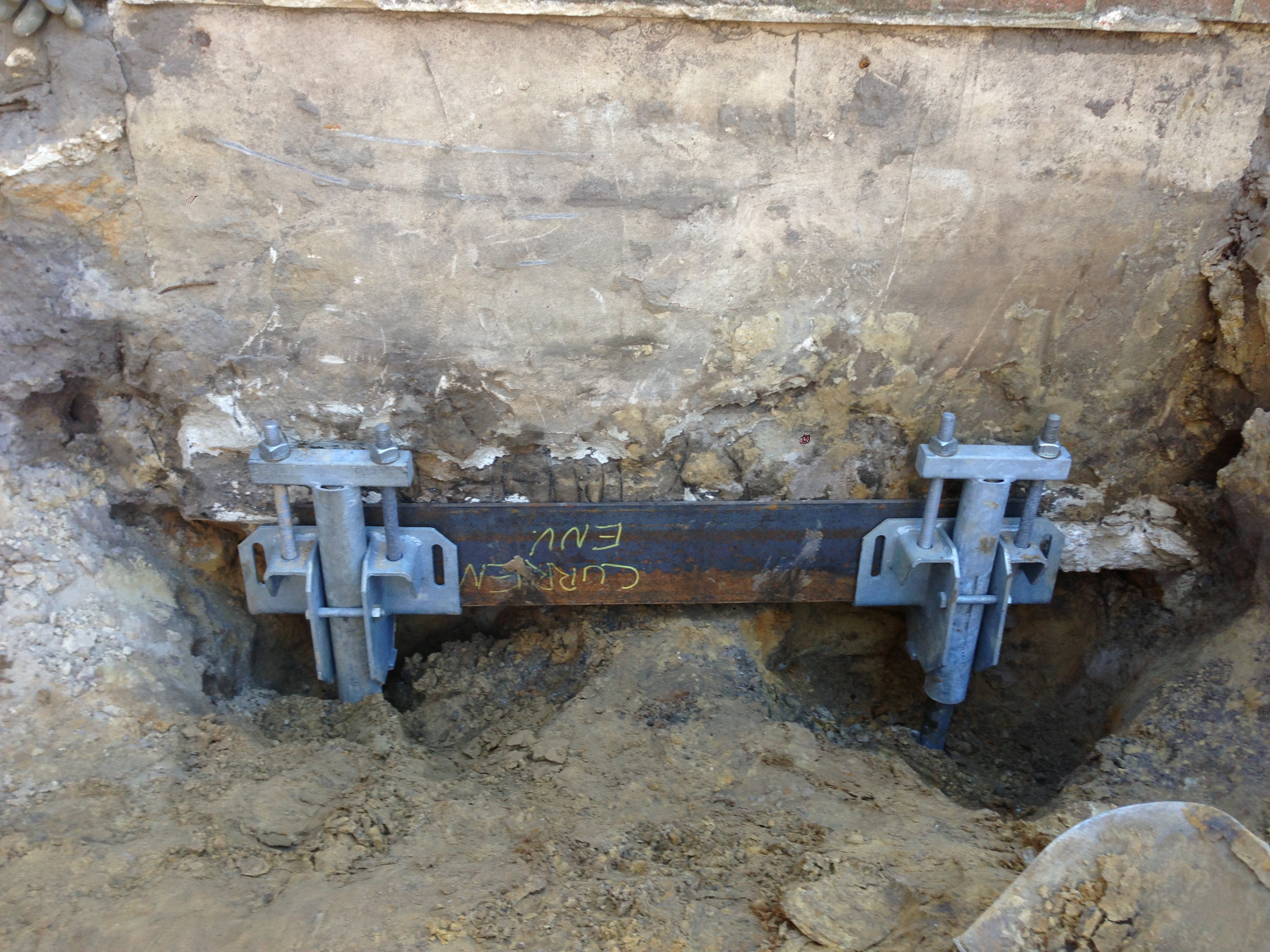 Foundation repair using Helical Piles, Chance Helical Pier